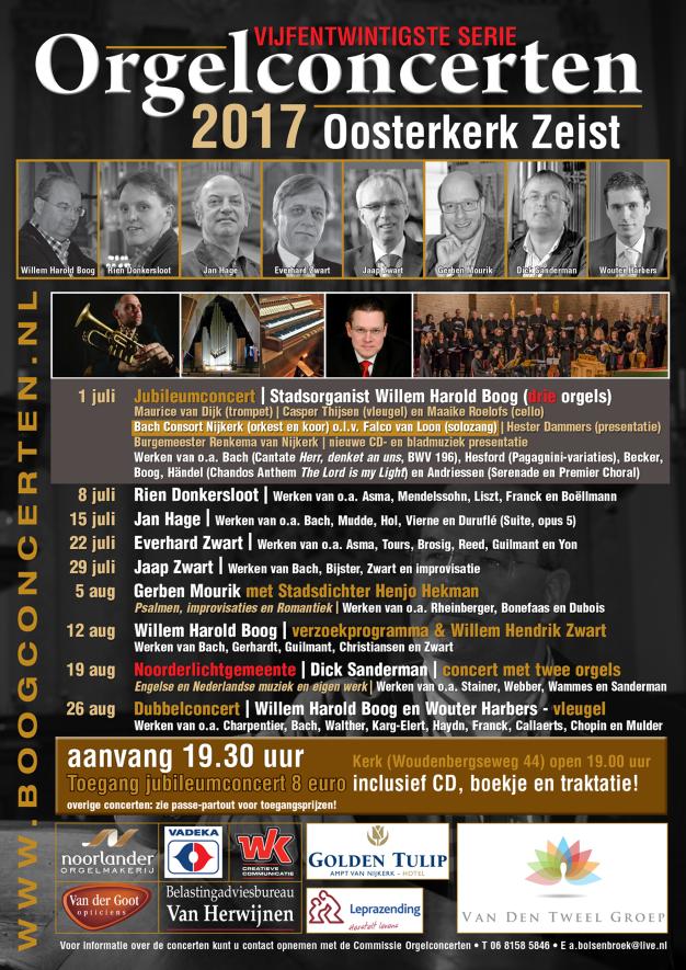 25e serie orgelconcerten 2017