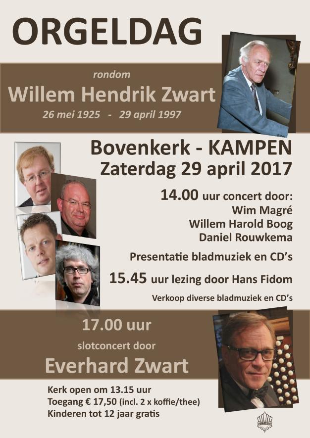 Orgeldag rondom Willem Hendrik Zwart